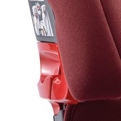 머리보호대에 부착되어 있는 안전벨트 사용 가이드