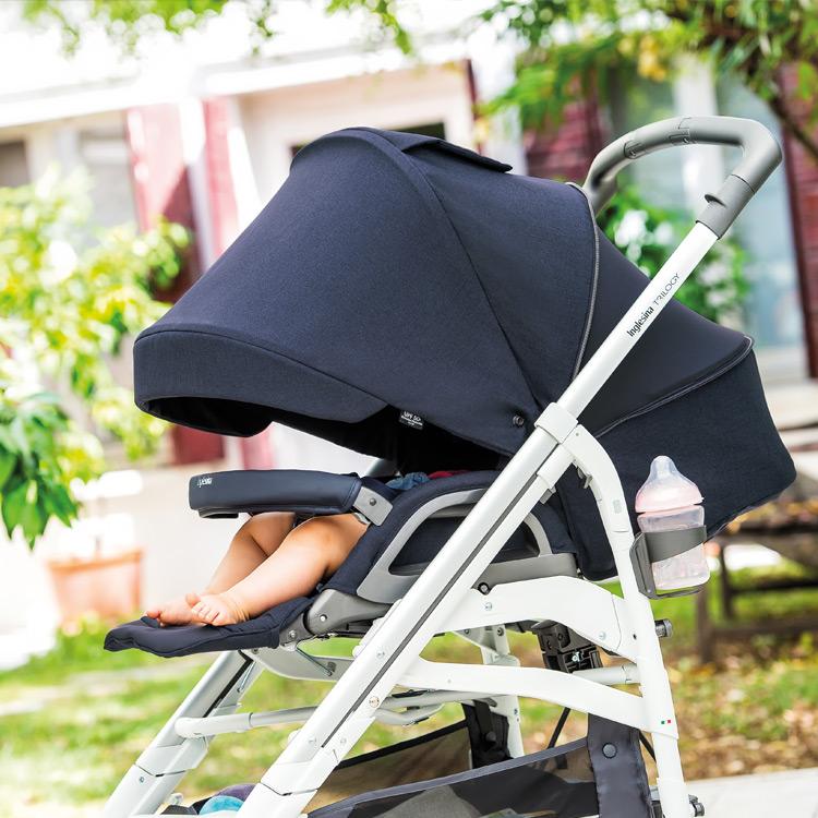 La sillita de paseo reversible, cómoda y completamente reclinable