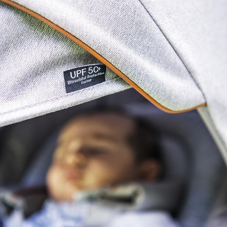 Capota extensible con protección UPF 50+